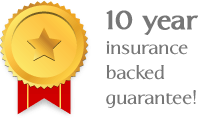 10 year insurance backed guarantee!